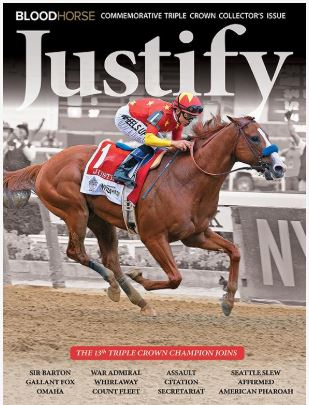 Justify Commemorative Triple Crown Collector's Issue-Blood-Horse