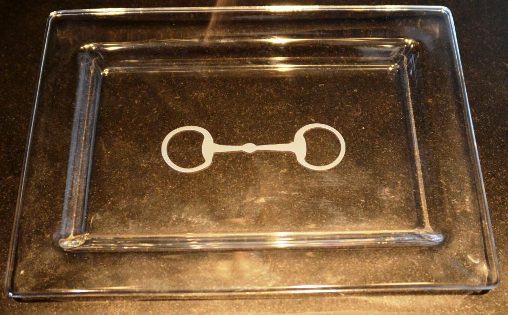 Equine Inspired Glass Tray
