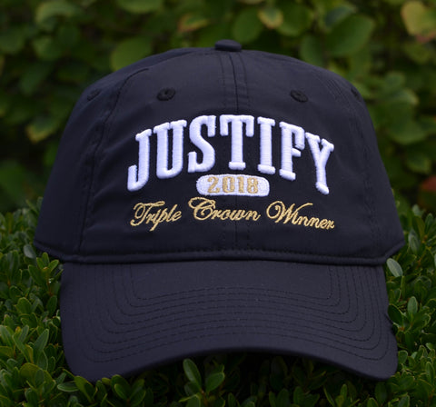Justify Triple Crown Winner 2018 Hat (Black & Gold Lettering)