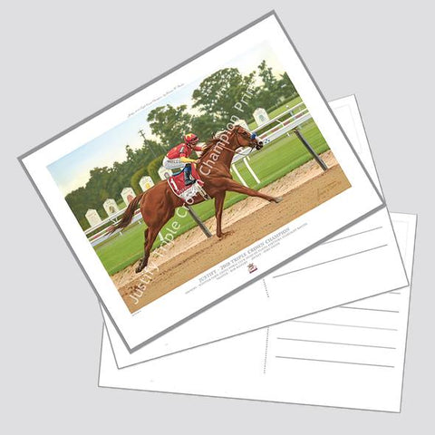 Justify Commemorative Collection Postcard