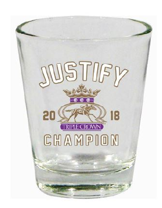 Justify Triple Crown Winner 2018 Shot Glass