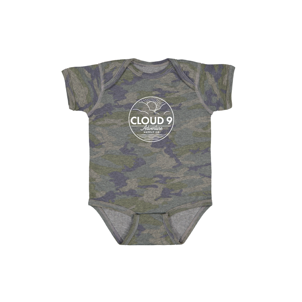 Supply Co. Logo Baby Onesie • Camo
