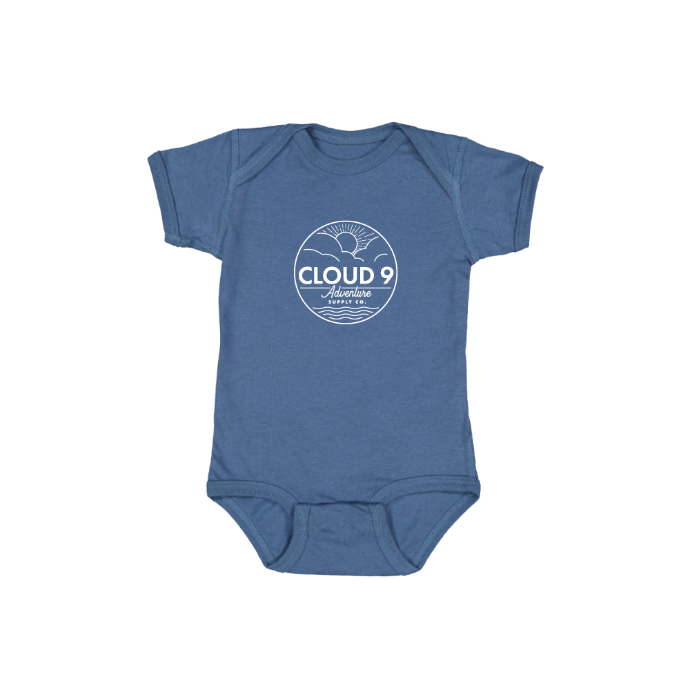 Supply Co. Logo Baby Onesie • Indigo