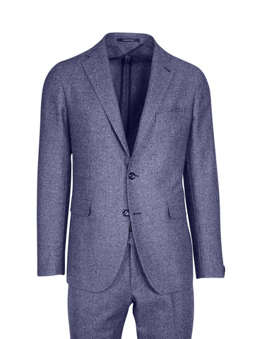 Tagliatore Houndstooth Two-tone Blue Suit