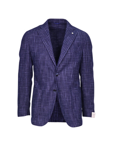 LBM Blue & Black Checked Sports Blazer