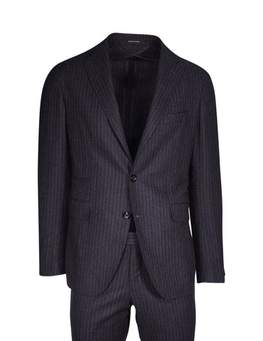 Tagliatore Chalk Stripe Charcoal Suit
