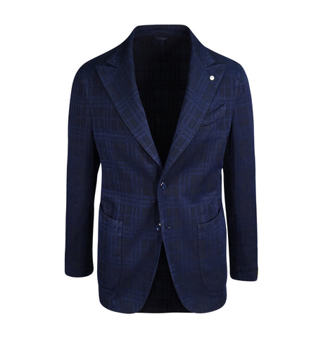 L.B.M. Navy Deconstructed Blazer