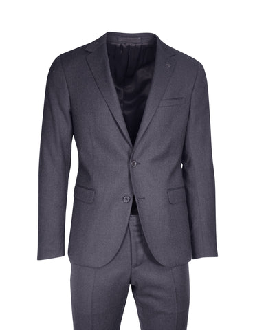 Hilton Charcoal Flannel Suit