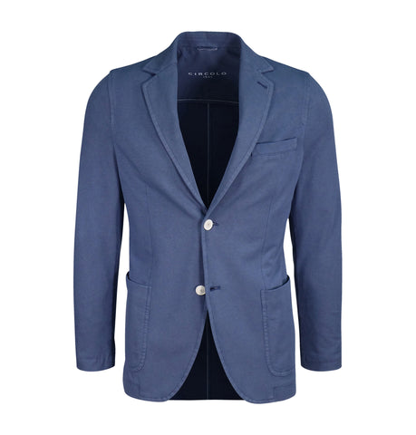 Circolo Blue Cotton Blazer