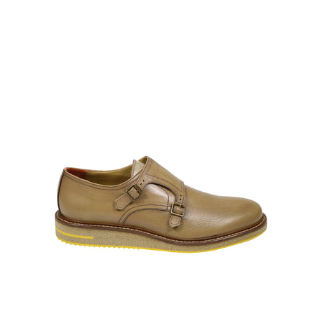 Brimarts Tan Monk Strap Shoes