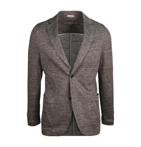 Circolo Light Grey Herringbone Blazer