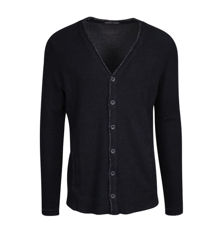 Hannes Roether Black Cardigan