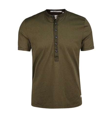 C.P. Company Military Green Henley T-Shirt