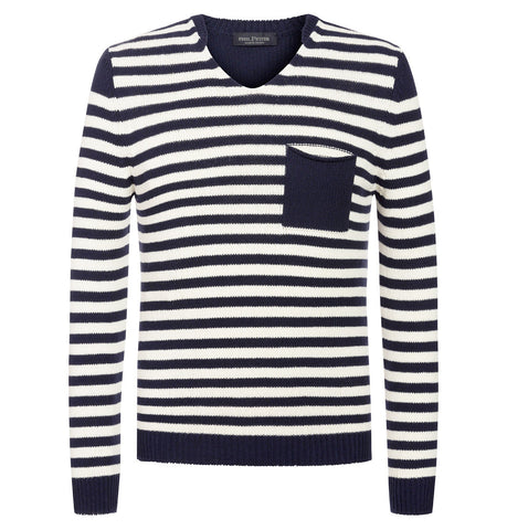 Phil Petter Striped V-Neck Pullover