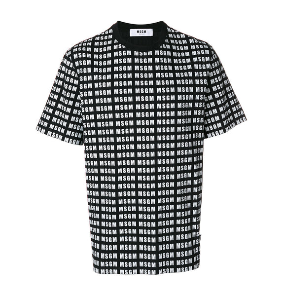 MSGM Black Logo T-Shirt