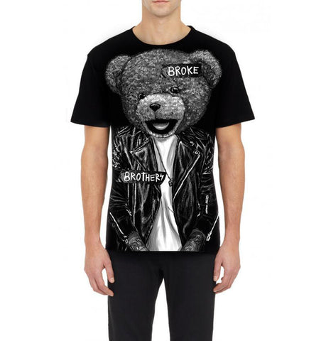 Domrebel Bear Black T-Shirt