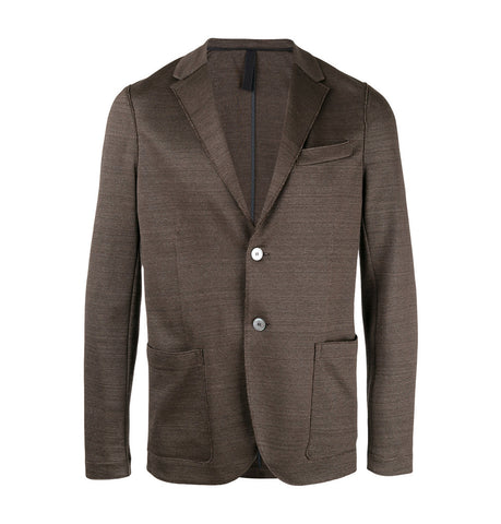 Harris Wharf London Brown Notched Lapel Blazer