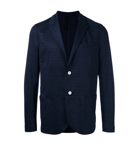 Harris Wharf London Denim Blue Linen Blazer