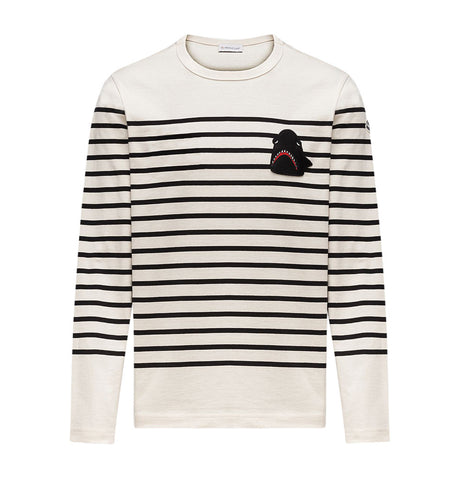 Moncler Striped Shark Crewneck