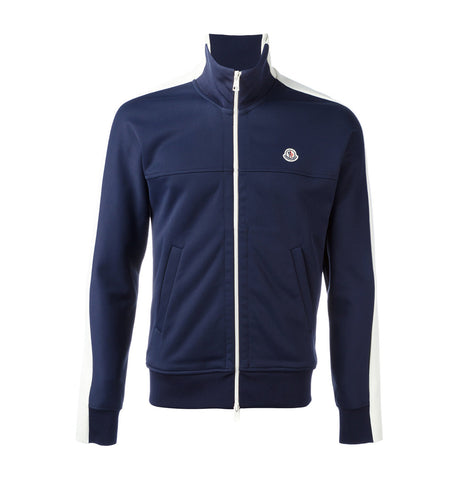Moncler Blue and White Zip Knit