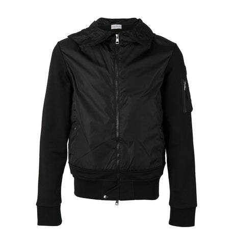 Moncler Hooded Black Jacket