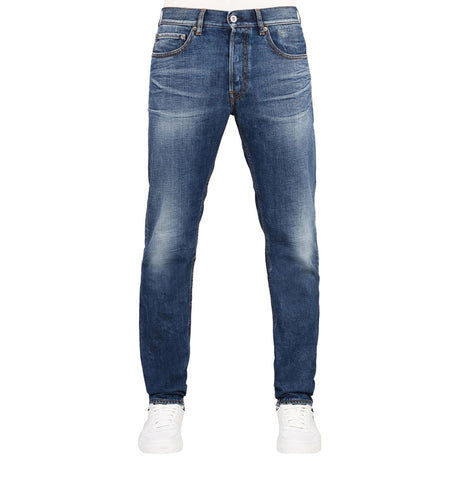 Stone Island Five Pocket Blue Denim Jeans