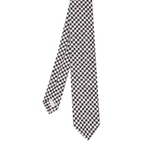 Hardy Amies Black Checked Tie