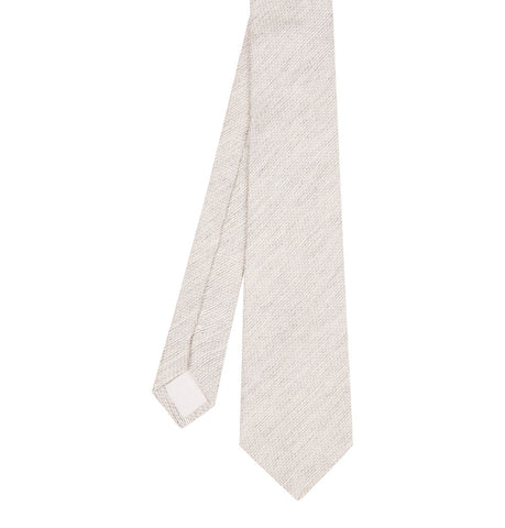 Hardy Amies Cream Textured Tie
