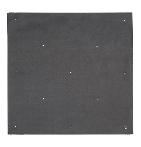 Hardy Amies Black Polka Diamond Pocket Square