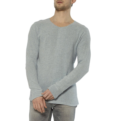 Denham Crossing Border Light Blue Sweater