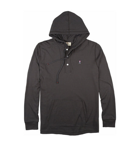 Psycho Bunny Blacksand Diggle Button Placket Hoodie