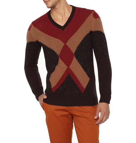 Roberto Collina 3 Colors Geometry Pullover