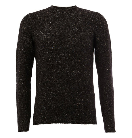 Roberto Collina Black Flocked Pullover