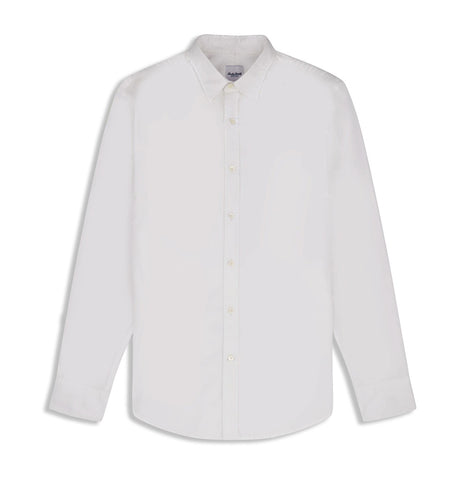 Hardy Amies White Cotton Twill Shirt