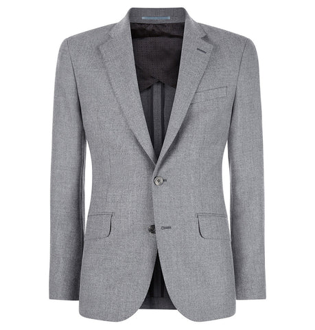 Hardy Amies Grey Wool Flannel Jacket