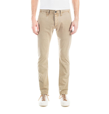 Denham London Slim Fit Khaki Chino