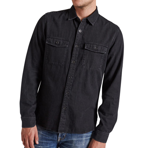 Current Elliott Ruler Ink Black Shirt