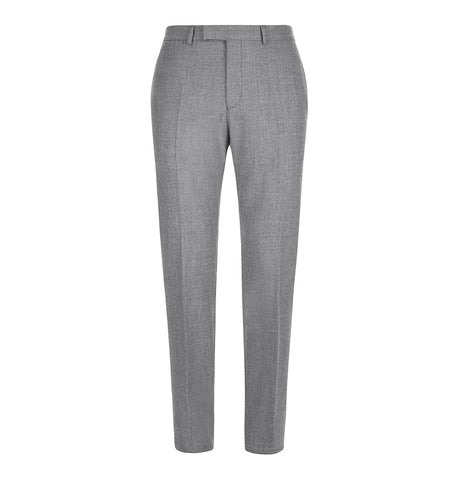 Hardy Amies Grey Wool Flannel Trousers