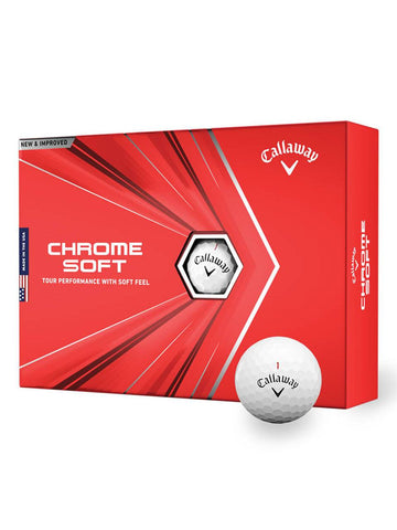 Callaway Chrome Soft 2020 Golf Balls - 1 Dozen White