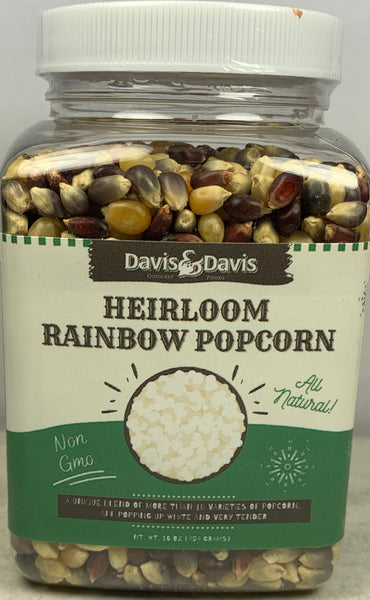 Heirloom Rainbow Popcorn Kernels - 1#