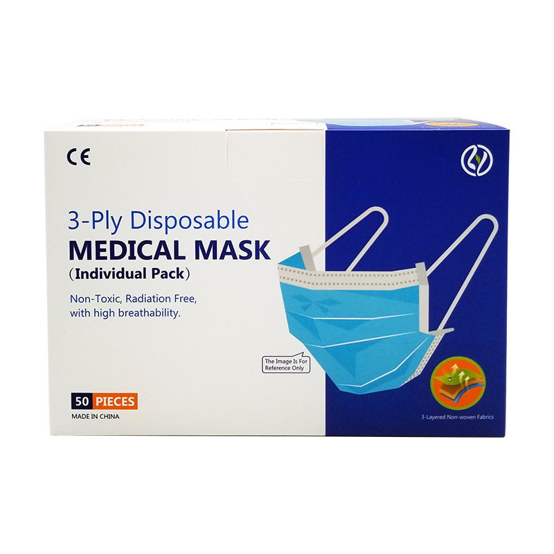 3 - Ply Disposable MEDICAL MASK  BABIES 幼童口罩 50 片 獨立包裝