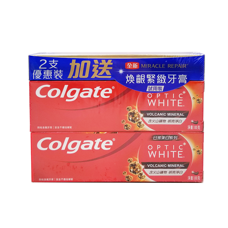 Colgate 高露潔 Optic White 光感白火山泥牙膏 100 g 孖裝