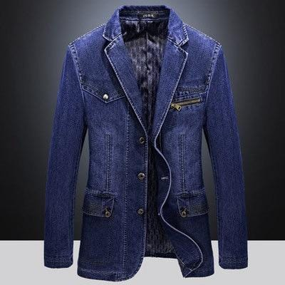 Three-Button Slim Denim Suit - Pop Music, pop artists, top 40 songs, pop music lyrics, sites like fashionova - Jim Mullin Official