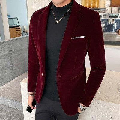 Velvet Mens Blazer - Pop Music, pop artists, top 40 songs, pop music lyrics, sites like fashionova - Jim Mullin Official