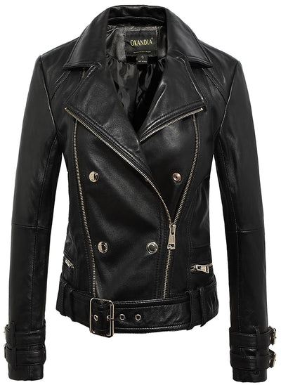 Haute Couture Leather Jacket - Imported Water-washed Coat - Pop Music, pop artists, top 40 songs, pop music lyrics, sites like fashionova - Jim Mullin Official