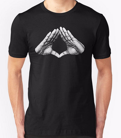 Illuminate Hands T Shirt - Pop Music, pop artists, top 40 songs, pop music lyrics, sites like fashionova - Jim Mullin Official