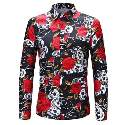 Skulls and Roses Shirt, various prints - Pop Music, pop artists, top 40 songs, pop music lyrics, sites like fashionova - Jim Mullin Official