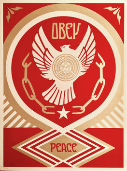 "Shepard Fairey ""Peace & Freedom Dove"" Holiday 14' Obey Print"