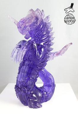 "Candie Bolton ""Purple Swirl"" Resin Bake-Kujira - Silent Stage Gallery"