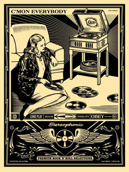 "Shepard Fairey ""C'mon Everybody"" Obey Print"